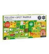 Sledovacie puzzle Na farme Petit Collage