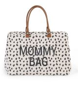 CHILDHOME PREBAĽOVACIA TAŠKA MOMMY BAG CANVAS LEOPARD